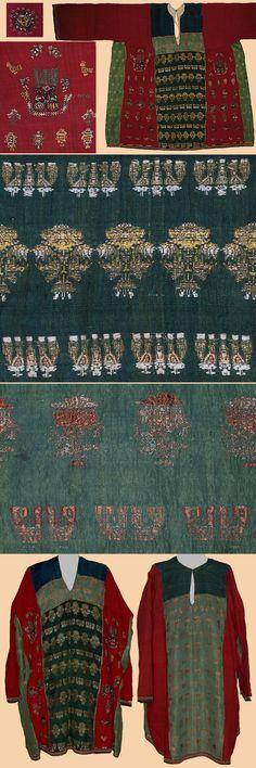 Antique Zoroastrian Wedding Shirt Embroidered and Silk brocade  Safavi Dynasty 1501-1722A.D Circa 1700