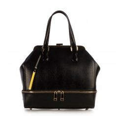 Mina 1401123 Black Cromia Handbags