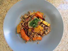 Farro, Herb & Roast Veggie Pilaf #vegan #sweetpotatosoul #plantbased