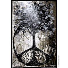 David Wolcott Wilhelm (Tree of Peace) Art Poster Print - greyscale, black and white tree morphing into peace sign Peace Poster, Poster On, Poster Prints, Art Prints, Life Poster, Wall Posters, Sick, Peace Art, Peace Dove