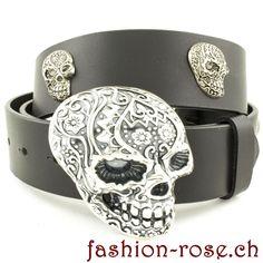 Für ein spezielles Outfit gehört dieses Set dazu Belt, Outfit, Accessories, Fashion, Skull Fashion, Silver Jewellery, Neck Chain, Metal, Wristlets