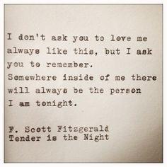 F. Scott Fitzgerald Love Quote Made On Typewriter door farmnflea