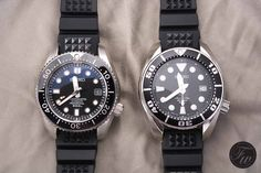 Seiko Marinemaster 300 SBDX001 vs Scuba SBDC001 (Sumo). Seiko Mechanical Watch, Cool Watches, Watches For Men, Seiko Marinemaster, Seiko Sumo, Fancy Clock, Seiko Diver, Watches Photography, Stunning Photography