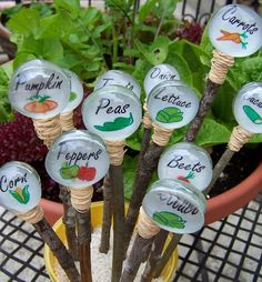 Garden Bling: Garden Markers Four Ways ~ Creative Green Living