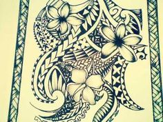 Polynesian drawing for a tattoo #polynesian #tattoo #samoan #tattoo
