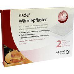 KADE Wärmepflaster:   Packungsinhalt: 2 St Pflaster PZN: 09732584 Hersteller: Dr. Kade Pharm. Fabrik GmbH Preis: 4,90 EUR inkl. 19 %…