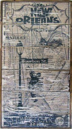 New Orleans Vintage Wall Art