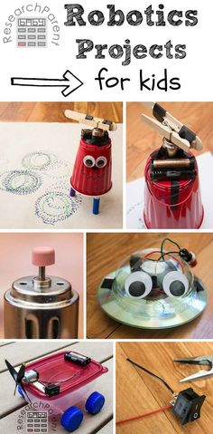 """Robotics Projects for Kids - Step-by-step tutorials for making fun, easy, inexpensive """"robots"""" via @researchparent"""