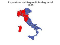 Risultati immagini per cartina italia guerre indipendenza