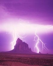 Lightning Strikes at Shiprock New Mexico #photography #naturephotography #landscape #landscapephotography #beautiful #lightning #superstock #sky #photo #color  #newmexico
