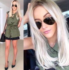 Qual seu look para sexta-feira? Inspiração no lindo look da @natanadeleon ❤️ #oticaswanny #natanadeleon #rayban #básico #blonde #sextou