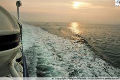 Traversée maritime depuis Brest vers l'île d'Ouessant (Bretagne, Finistère)