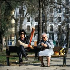 Pedro Almodovar and his mother