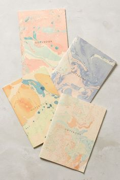 Marbled Notebook - anthropologie.com - IDEA;  Child project make notecards - optional quote inside!