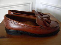 1706c80dee2 Vintage British Tan Genuine Leather Bass Weejuns Kiltie Tassel Loafers  Women s Size US 7 or 7.5