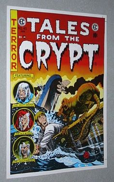 Rare Vintage Original EC Comics Tales From The Crypt 45 Comic Book Cover Artwork Poster: Jack Davis Art/1970's/Ship Rat vs Shipwreck Survivor EC Comics,http://www.amazon.com/dp/B00DD72RNA/ref=cm_sw_r_pi_dp_2vfUsb0Z1WMX6MGE
