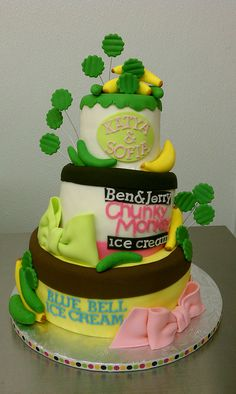 Pickles and Ice Cream Baby Shower Cake