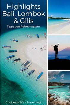 Deine Reise nach Bali und Lombok steht bevor und du hast noch keinen Plan? Zusammen mit anderen Reisebloggern haben wir unsere 6 Highlights der beiden Inseln zusammengestellt. Wir wünschen dir eine tolle Reise Bali Lombok, South Island, Travel List, World Traveler, Places To Go, City, Beach, Nature, Highlights