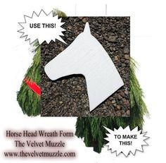 Horse Head Wreath, Horse Head Wreath Form, Horsehead Wreath