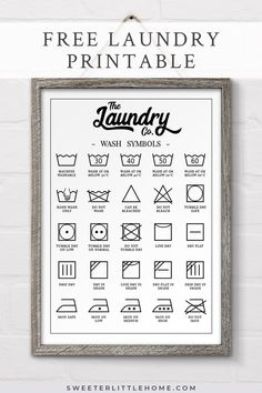 Free printable laundry symbols wall art is part of diy-home-decor - No more shrunken woollens! Be a laundry genius with this free printable laundry symbols wall art Laundry Room Signs, Laundry Room Organization, Laundry Room Wall Decor, Bathroom Wall Art, Decorate Laundry Rooms, Laundry Room Art Diy, Wall Art For Kitchen, Laundry Room Decorations, Laundry Room Quotes