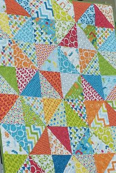 Check out this item in my Etsy shop https://www.etsy.com/listing/233541495/bright-baby-quilt-primary-colors-nursery