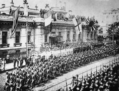 World War I and World War II Related Images: Vladivostok. #ww1 #russia #parade