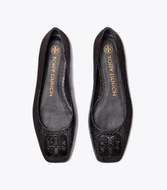 Georgia Snakeskin Ballet Flat | Tory Burch Professional Outfits, Tory Burch Flats, Snake Skin, Designer Shoes, Ballet Flats, Georgia, Loafers, Women's Shoes, Leather