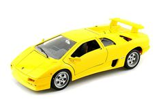 Lamborghini Diablo yellow diecast model car by Bburago. Get it now at GeekingBad for $79.95 with free shipping.