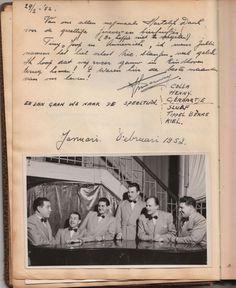 Orkest Nico Slangen. Traden vroeger ok op in de Rutex. In 1952 bij .....? Wie herkent er iemand van deze bent?