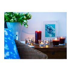 TINDRA Tuoksukynttilä lasissa IKEA Kun kynttilä on palanut loppuun, lasista kuppia voi käyttää lämpökynttiläkuppina.