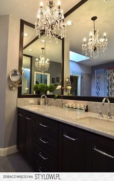 For the Home / a little glam for the master bath na Stylowi.pl