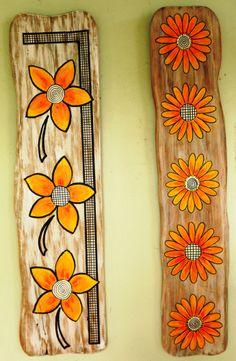 Painted on wood