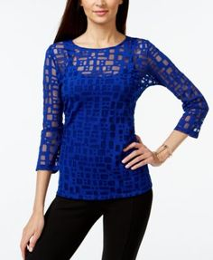 INC International Concepts Geo-Print Illusion Top, Only at Macy's
