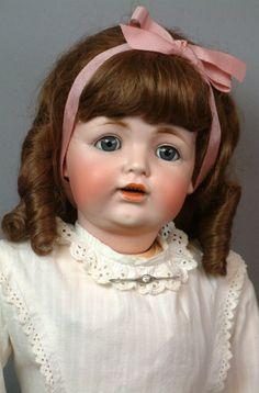 """*RARE* JDK Kestner 260 Character Child HUGE 32"""" in Antique Dress Bisque Doll"""