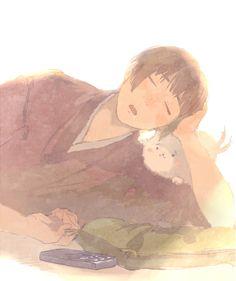 Kiku Honda (Japan) from Hetalia Look at his face! I just wanna kiss him! <3