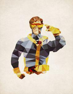 Polygon Heroes - Cyclops Art Print