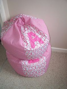 DIY Bean Bag Chair Pattern   Like The Initial, One For Each Girl