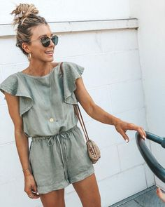 A romper like this would be great to thrift. I definitely need the shape in the middle with the drawstring.