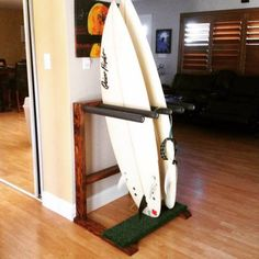 Grass Patch vertical Surfboard Rack (Stained)