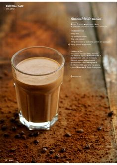 Revista Bimby - Abril 2015 Café Chocolate, What To Cook, Smoothies, Sweet Tooth, Goodies, Yummy Food, Simple, Tableware, Desserts