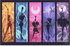 Sailor Moon Outer Senshi Silhouettes graph for crocheting