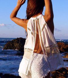 shirt tunic dress tunic tunic top tunic tshirt white long open back open back tank boho chic boho beach cover up divergence clothing white white shirt lace lace top
