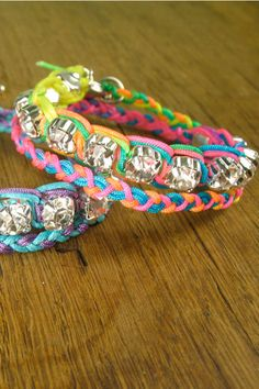 blinged out friendship bracelets
