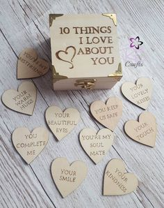 Personalised Valentine's day Gift 10 Reasons why I love you wooden box Pyrography - presents for boyfriend 5 Senses Gift For Boyfriend, Birthday Gifts For Boyfriend Diy, Cute Boyfriend Gifts, Boyfriend Anniversary Gifts, Valentine Day Gifts, Boyfriend Crafts, Husband Birthday Gifts, Valentines Day Gifts For Him Diy, Diy Presents For Boyfriend