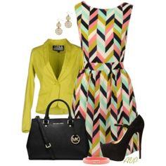 Louche Carys Chevron Dress