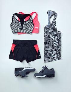 New sportswear | Gina Tricot Active Sports | www.ginatricot.com | #ginatricot #flatlay #flatlayapp