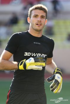 Jules Bianchi as goalkeeper at a charity football match - 2014 Monaco GP