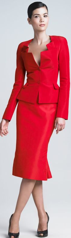 Zac Posen dress suit.