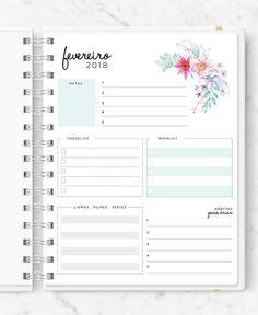 Master Planner - New Roses Planner 2018, Agenda Planner, Planner Layout, Planner Pages, Happy Planner, Planner Stickers, Weekly Planner Printable, Planner Template, Planner Diario