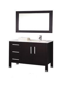 "MTDVanities Monaco 40"""" Single Sink Bathroom Vanity Set (Sink on Right Side), Espresso"